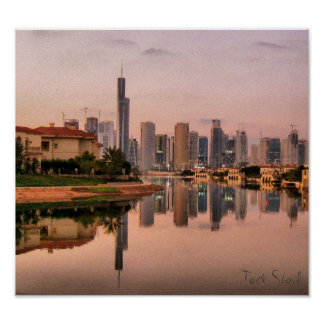 New Dubai Skyline Poster
