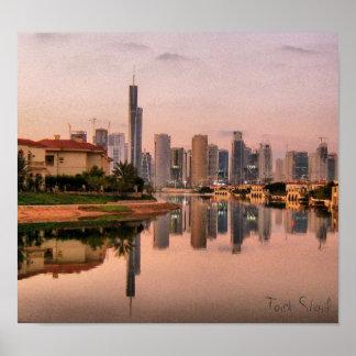 New Dubai Skyline Poster