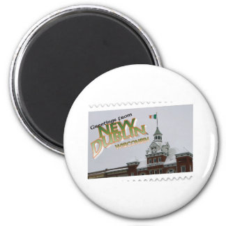 New Dublin, New London St. Patrick's Day celebrate 2 Inch Round Magnet