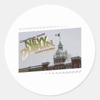 New Dublin, New London St. Patrick's Day celebrate Classic Round Sticker