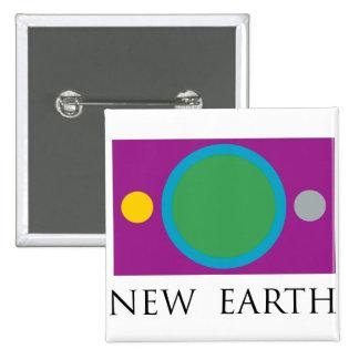 New Earth 2 Inch Square Button