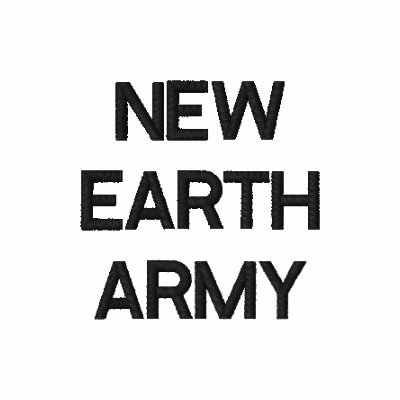 NEW EARTH ARMY EMBROIDERED SHIRT