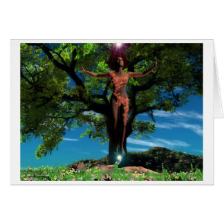New Earth Tree Greeting Cards