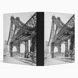 New East River bridge Brooklyn New York Vinyl Binders