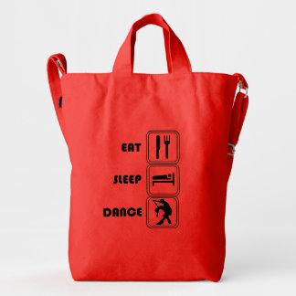 New-Eat,Sleep and Dance funny BAGGU Duck Bag,Poppy Duck Bag