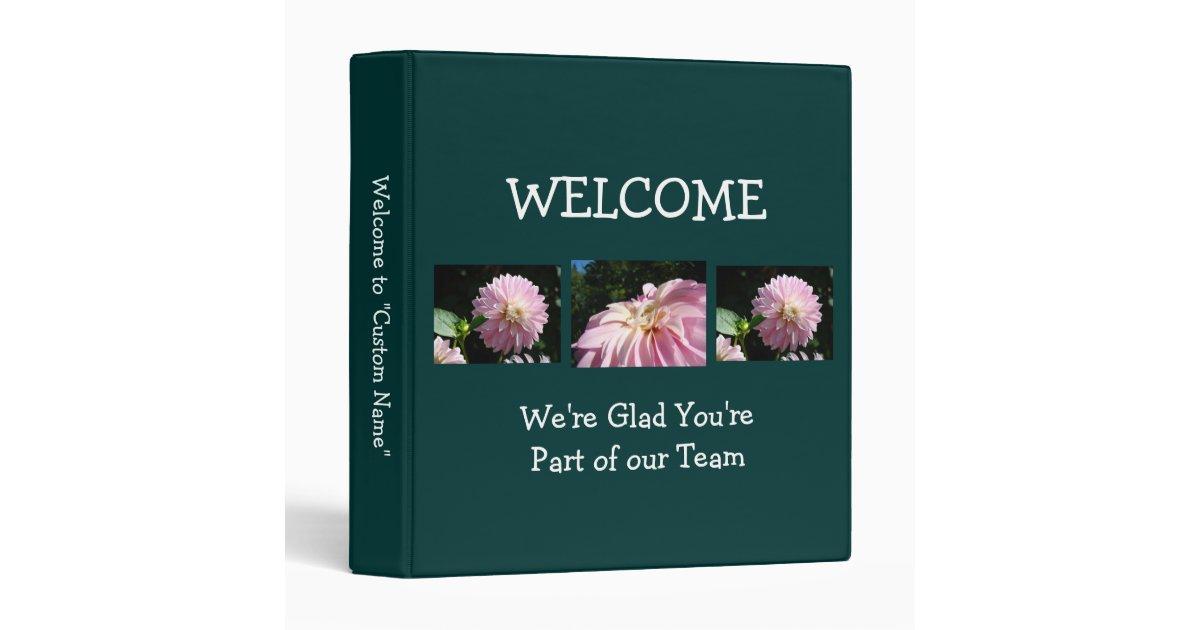 new employee binder welcome part of team