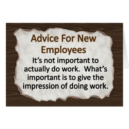 New Employee Card