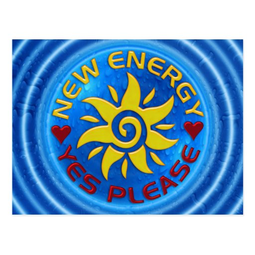 NEW ENERGY SUN - water Postcard