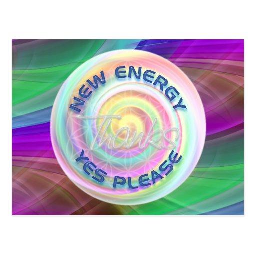 NEW ENERGY - YES PLEASE - THANKS POSTCARD
