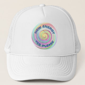 NEW ENERGY - YES PLEASE with heart Trucker Hat