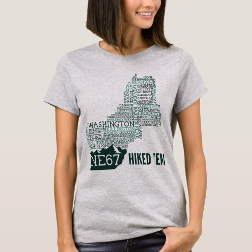 New England 67 Hiked Womens T_Shirt