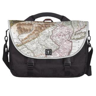 New England Ancient Map (1756).3989x4625.png Laptop Messenger Bag