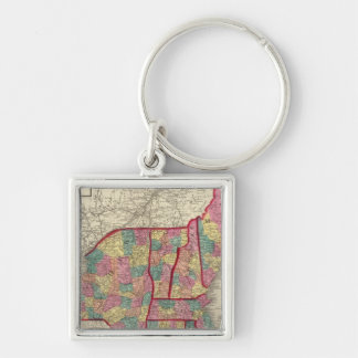 New England and New York 2 Keychain