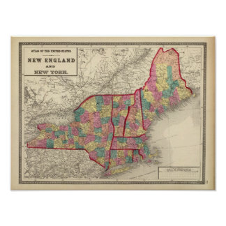 New England and New York 2 Poster