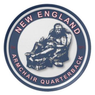 New England Armchair Quarterback Plate