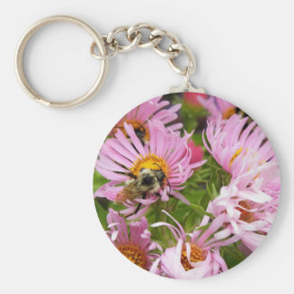 New England Aster Keychain