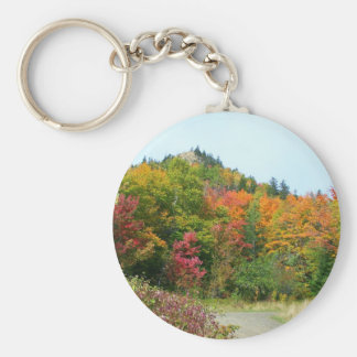 New England Autumn 52 Keychain