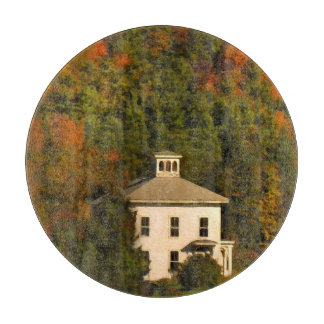 New England Autumn House and Cupola Cutting Board