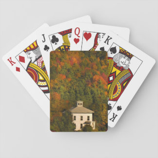 New England Autumn House and Cupola Playing Cards