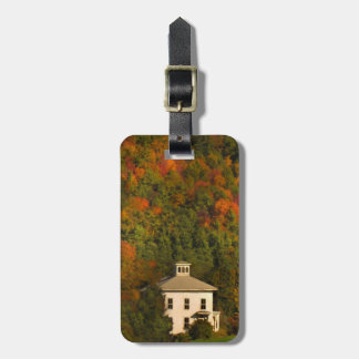 New England Autumn House Luggage Tag