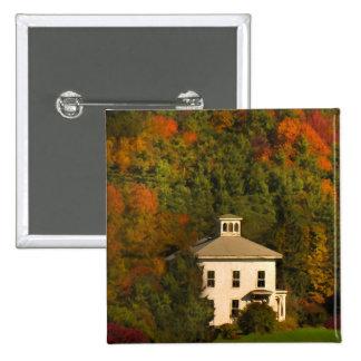 New England Autumn House with Cupola Button