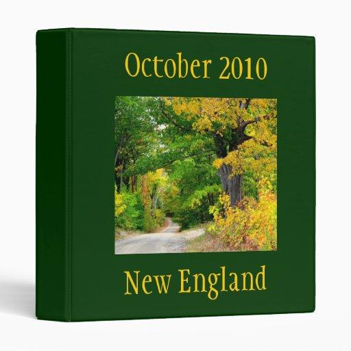New England Autumn Travel Binder Binders