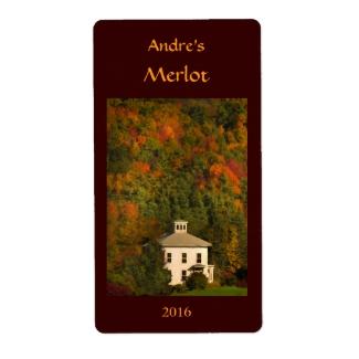 New England Autumn Wine Label