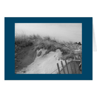 New England Dunes In Winter Card