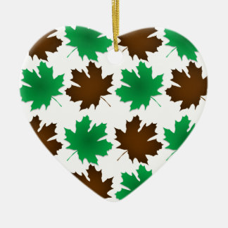 New England East Coast Autumn Leaves Ceramic Ornament