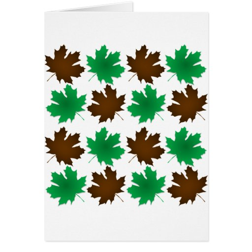 New England East Coast Autumn Leaves Greeting Card