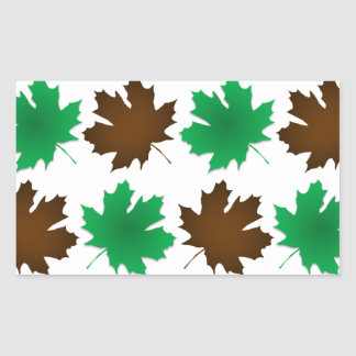 New England East Coast Autumn Leaves Rectangular Sticker