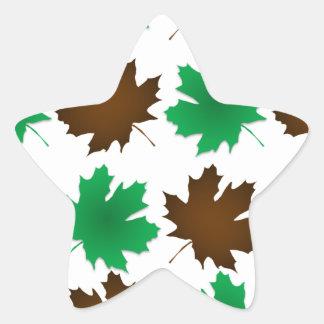 New England East Coast Autumn Leaves Star Sticker