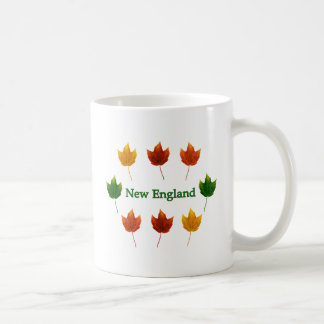 New England Fall Leaves Coffee Mugs