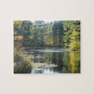 New England Fall Pond Jigsaw Puzzles