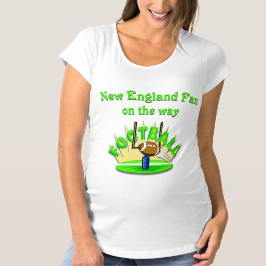 New England Fan on the way Maternity T-Shirt