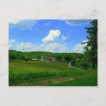 New England Farm postcard