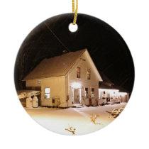 New England Farmhouse Ceramic Ornament