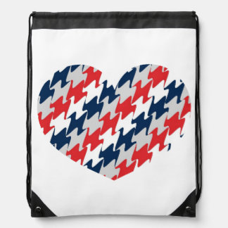 New England Football Team Colors Red White Blue Drawstring Bags