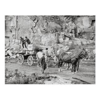 New England Granite Quarry, 1908 Postcard