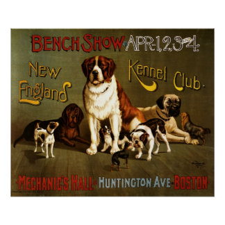 New England Kennel Club bench show Poster