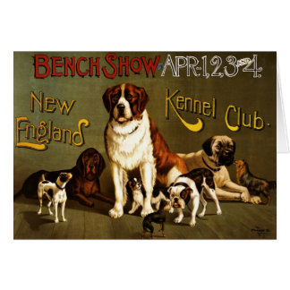 New England Kennel Club c.1890 show poster Greeting Cards