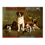 New England Kennel Club c.1890 show poster Postcard