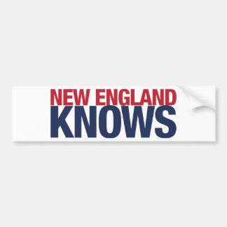 New England Knows Bumper Sticker