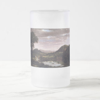 New England Landscape by Frederick Edwin Church Frosted Glass Beer Mug