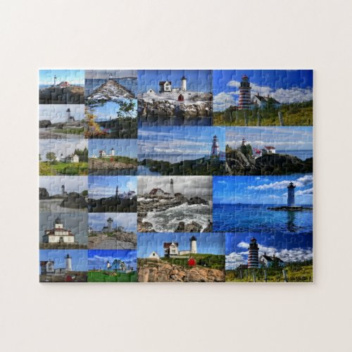 New England Lighthouse Collage Puzzle puzzle