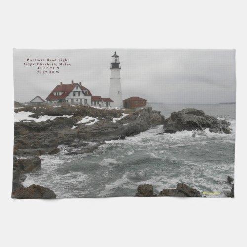 New England Lighthouse Portlandhead American MoJo kitchentowel