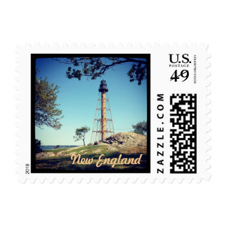 New England Lighthouse Postage Stamp