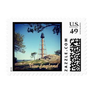 New England Lighthouse Postage Stamp