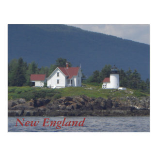 New England Lighthouse Postcard
