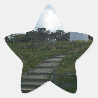 New England Lighthouse Star Sticker